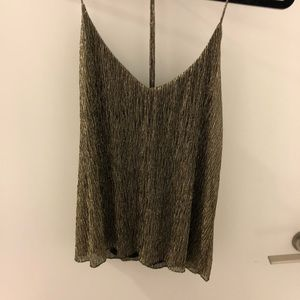 NEW TOPSHOP SMALL GOLD & BLACK BLOUSE